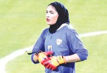 عکس زهرا خواجوی خاتون بم فوتبال بانوان