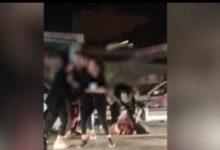فیلم دعوا درگیری دختران در کرمان بلوار حمزه چهار دختر کرمانی در کدام خیابان بدون سانسور