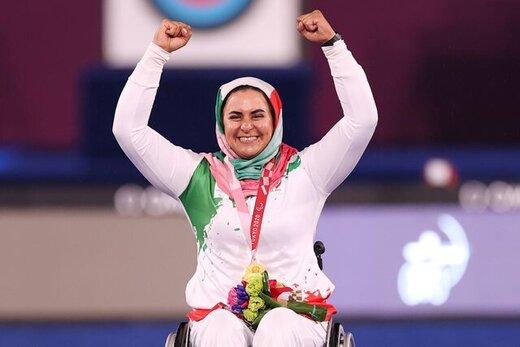 عکس زهرا نعمتی بانوی ورزشکار کرمانی طلا پار المپیک