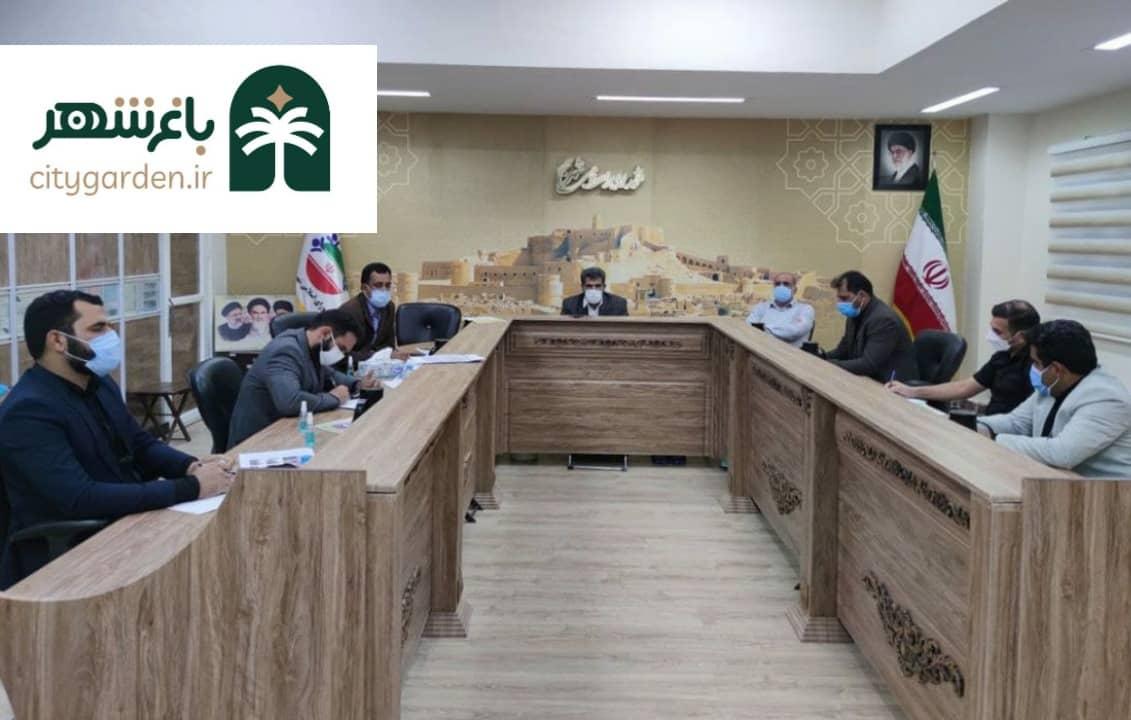 رضا آلبوغبیش سرمربی پیشنهادی شهرداری بم جلسه شورای شهر